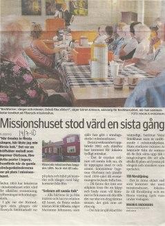 Artikel tagen ur Oskarshamnstidningen 14/7-10