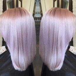 Slingor/färggning/toning av hår