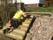 Trappa i kombination med blivande  gräsvall
