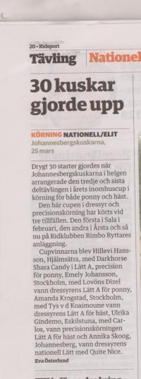 Ridsport artikel av Eva Österlund