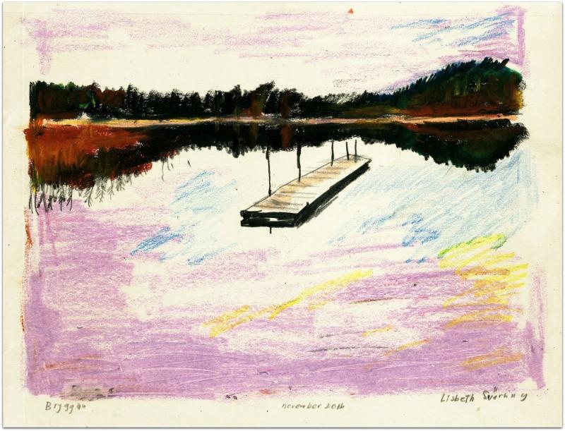 Bryggan vintertid/Winter lake