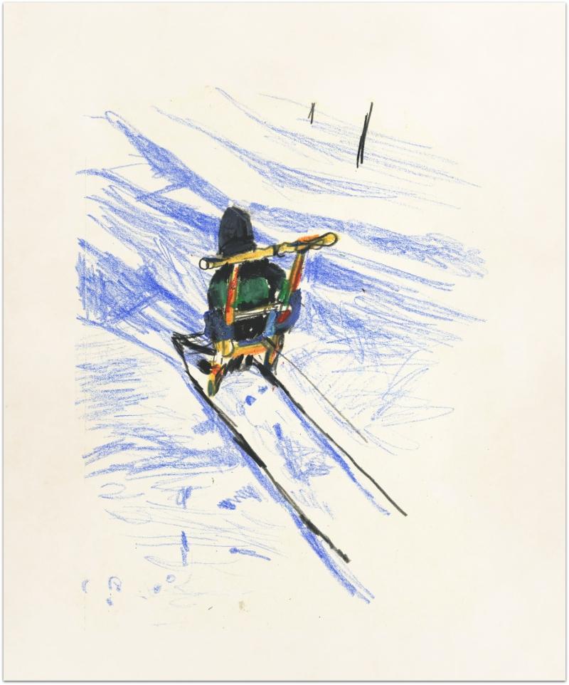 Vilken konstig snowracer!/Strange snow racer this was..