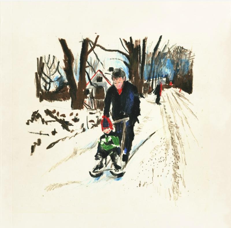 Vinter i Sättra/Winter in the village