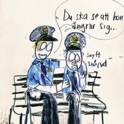 Ledsna poliser/  Familjebostäder