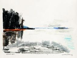 Sjön Möckeln i småland