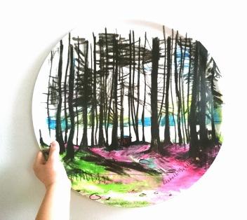 6. Skogen 46 cm,  450 kr