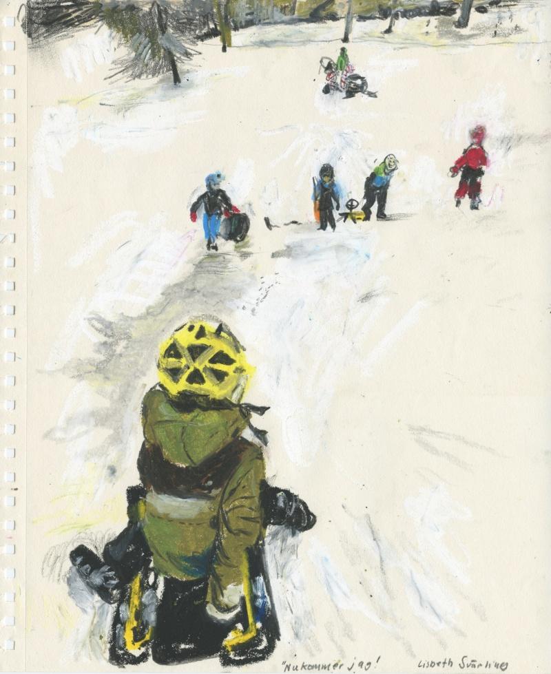 Snowracer i Renströmska parken