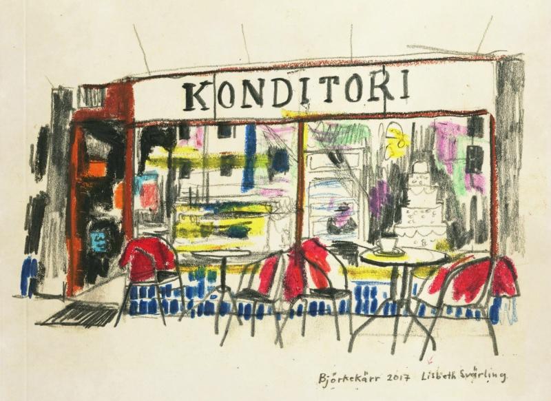 Jerkstrands konditori Trätorget i Björkekärr,  SÅLD