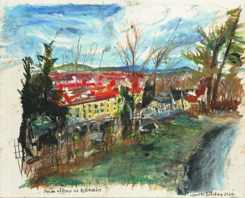 Qvidingsgatan från Rudolf Steinerskolan, förtätning