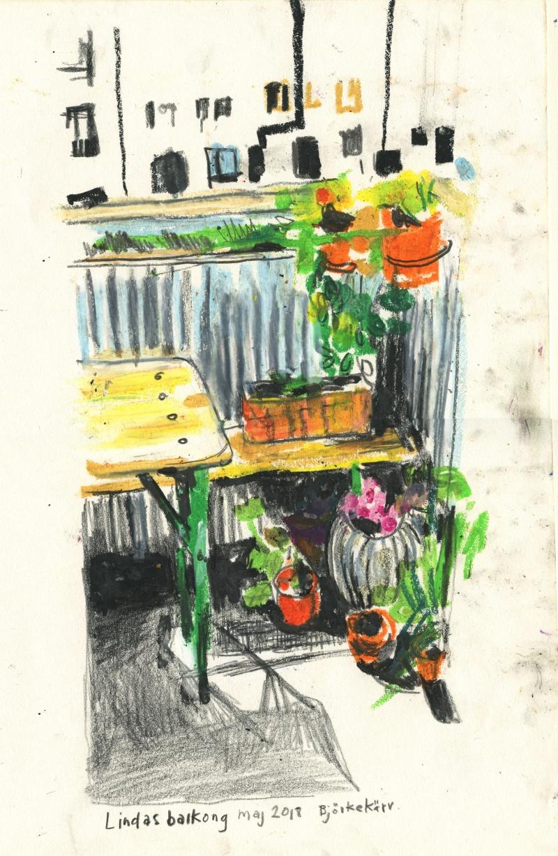 Lindas balkong