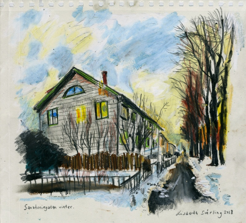 Sanatoriegatan vinter