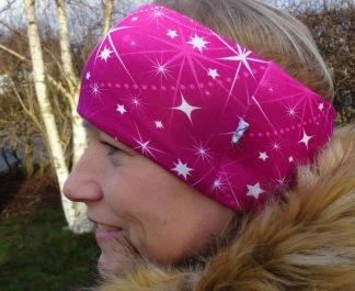 Ceris med stjärnblixtrar Fodrat Pannband - För ungdom och vuxen
