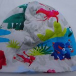 Dinosaurie Färgglad Fodrad