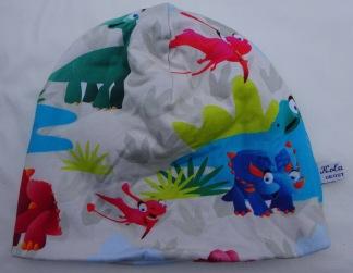 Dinosaurie Färgglad Fodrad - 38-44 cm. Ca: 3-10 månader