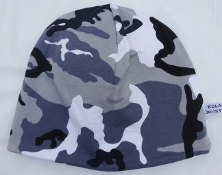Camouflage Grå Fodrad - 34-38 cm.  Ca: 0-2 månader