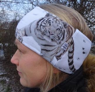 Stor Tiger Fodrat Pannband - För ungdom och vuxen