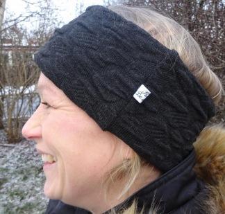 Svart Akryl/Viscose Fodrat Pannband - För ungdom och vuxen