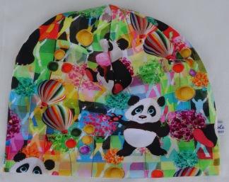 Panda på Färgglad botten - 34-38 cm. Ca: 0-3 månader