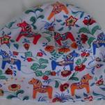 Häst-Dalahäst Orange/Blå