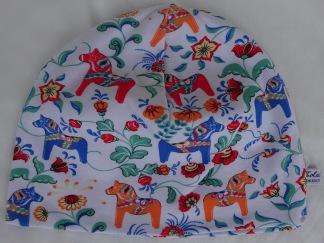 Häst-Dalahäst Orange/Blå - 34-38 cm. Ca: 0-3 månader