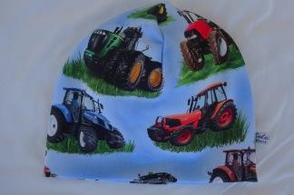 Traktor på Ljusblå botten - 34-38 cm. Ca: 0-3 månader