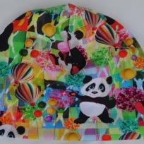 Panda på Färgglad botten