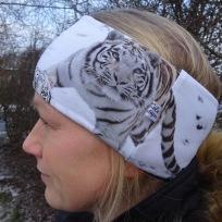 Stor Tiger Fodrat Pannband