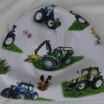 Traktor på vit botten