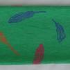 Pannband - Grön med fjädrar