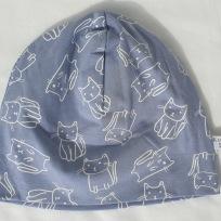 Kattfigurer på Gråblå botten