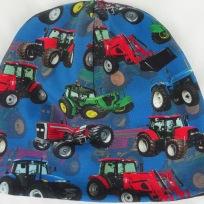 Traktor på blå botten Fodrad