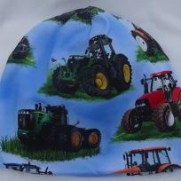 Traktor på Ljusblå botten