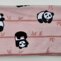 Pandor på rosa botten Fodrat pannband