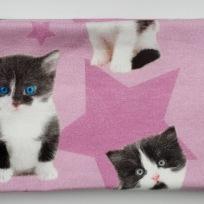 Katter på rosa botten Fodrat pannband