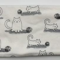 Katt med garnnystan  Fodrat pannband