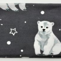 Isbjörnor på grå botten Fodrat pannband
