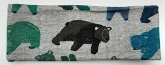 Fantasi Björn grå botten Fodrat pannband - Barn upp till 4 år