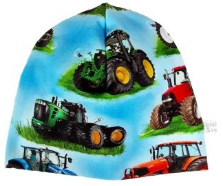 Traktor ljusblå - 34-38 cm. Ca: 0-3 månader