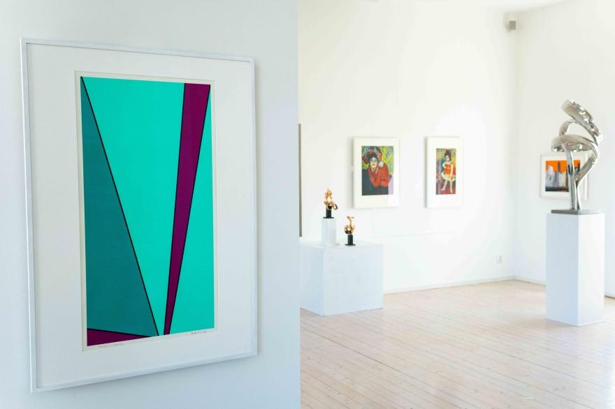Seriegrafi av Olle Baertling, skulpturer av Nils Dahlgren samt handsignerade offsetlitografier av Picasso
