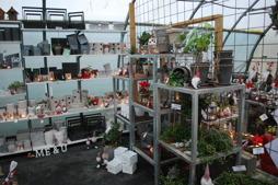 Hos Örjanssons blommor hade de lyckats skapa julstämning trots stormrasade hus!