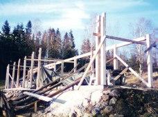 April 1995 och vi börjar resa såghuset.