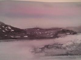 Vinter (akvarell)