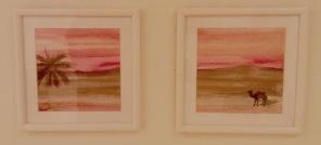 Öken x 2 (akvarell)