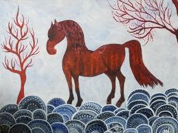 röd häst - Såld