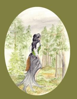 Skogrå (akvarell) privat