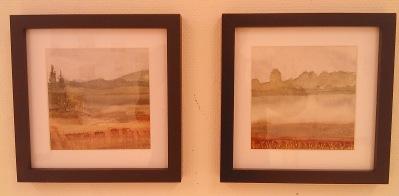 Landskap x 2 (akvarell) såld