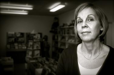 Monica Alkebradt är bibliotekarie i Vessigebro. FOTO: MICAEL GOTH