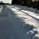 Snö. Det kan vara rejäla vintrar även i Halland. FOTO: MICAEL GOTH