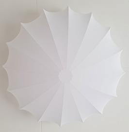 Saucer plafond 60cm vit sammet