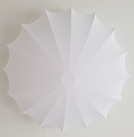 Saucer 60cm white stretch